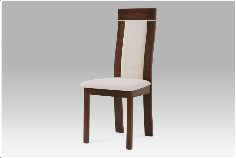 Jídelní dřevěná židle NOCCIOLA – ořech, krémový potah