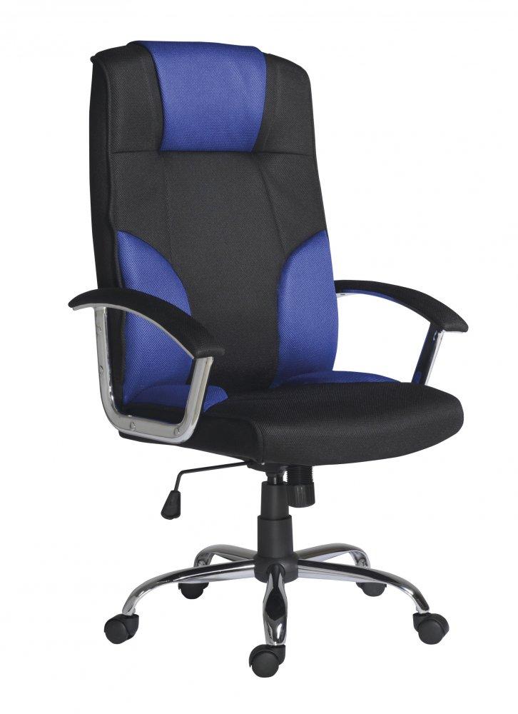 Kancelářské otočné křeslo Antares MIAMI — látka, více barev Modrá — černá