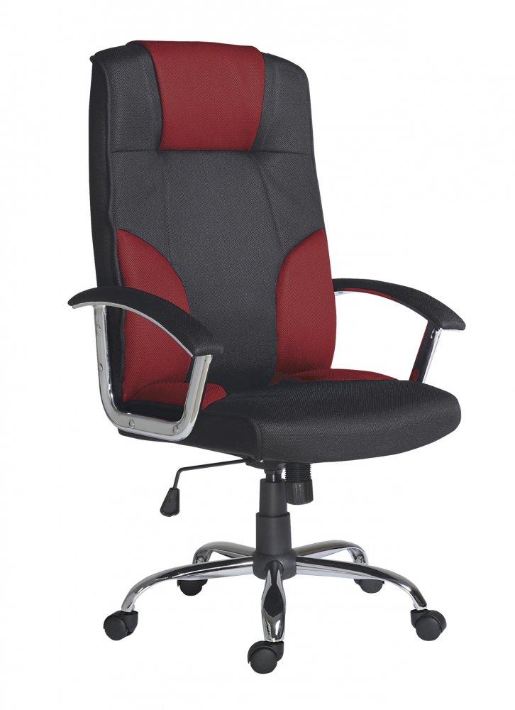 Kancelářské otočné křeslo Antares MIAMI — látka, více barev Červená — černá
