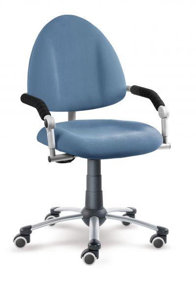 Rostoucí dětská židle na kolečkách Mayer FREAKY – s područkami Aquaclean modrá 2436 08 30 462