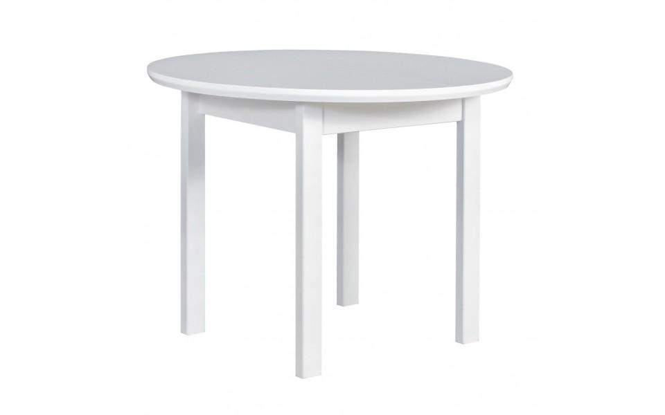Jídelní rozkládací stůl RADANA — průměr 100 + 30 cm, masiv, více barev