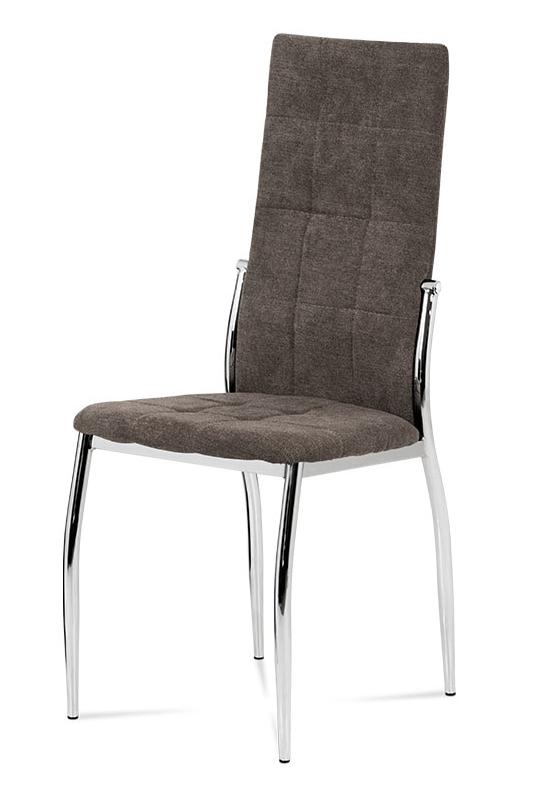 Jídelní židle GRAS — kov, látka, více barev Lanýžová