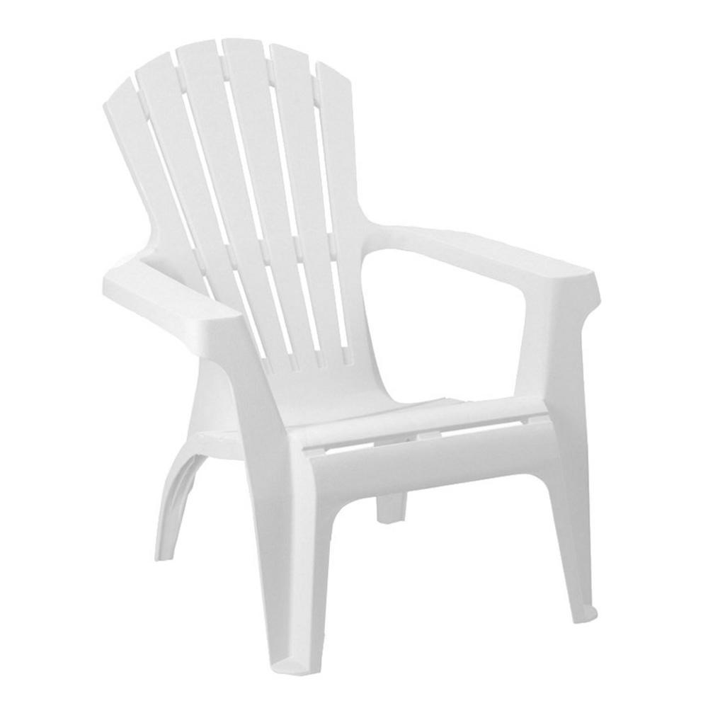 Zahradní křeslo ARMONA — bílá, plast