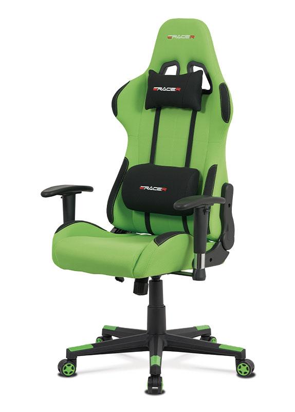 Herní židle ERACER F05 – zelená, nosnost 130 kg