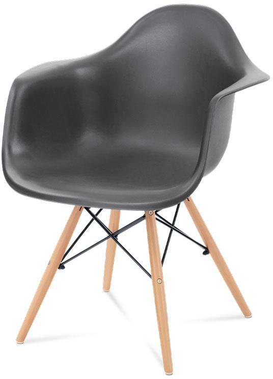Jídelní židle bez područek Autronic CT-719 GREY1 – šedá, masiv buk/plast