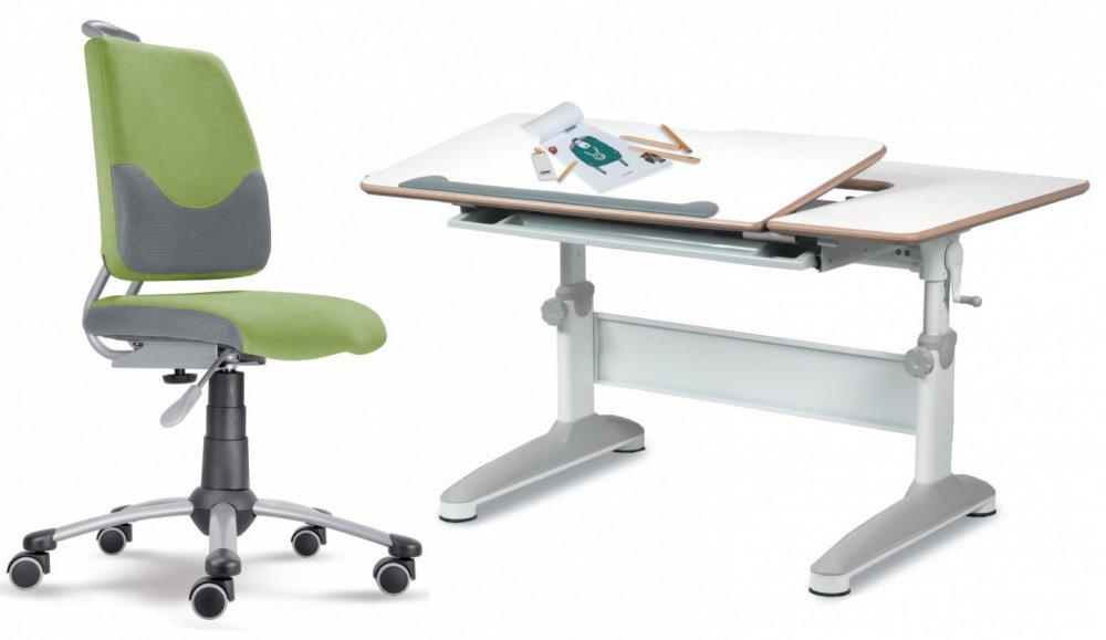 Dětský set Mayer – rostoucí židle ACTIKID A3 SMILE a rostoucí stůl EXPERT, zelený + dárek