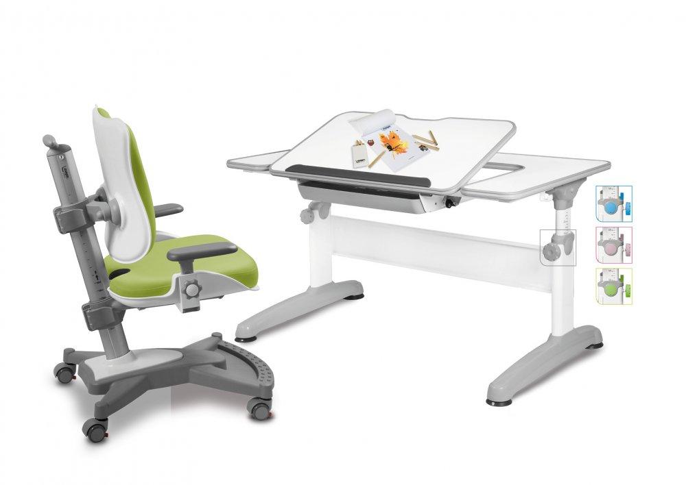 Dětský set Mayer – rostoucí židle MYCHAMP a rostoucí stůl UNIQ, zelený + dárek