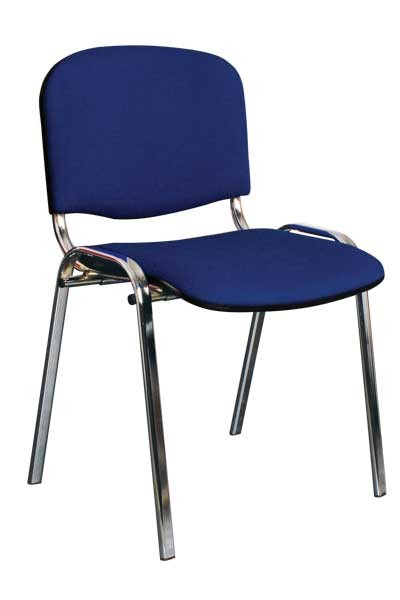 Jednací čalouněná židle Bradop ZK20 – kostra chrom, nosnost 150 kg
