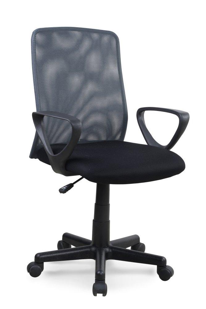 Kancelářská otočná židle ALEX - látka, černá