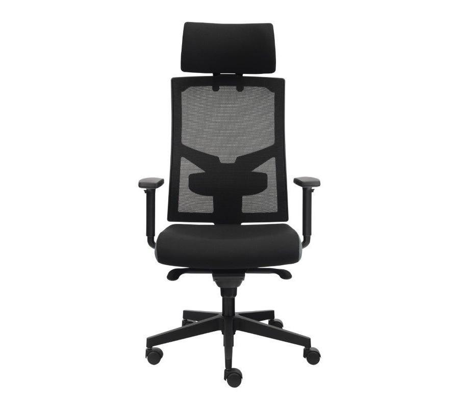 Kancelářská židle na kolečkách Alba GAME ŠÉF VIP T- synchro – černá, nosnost 150 kg