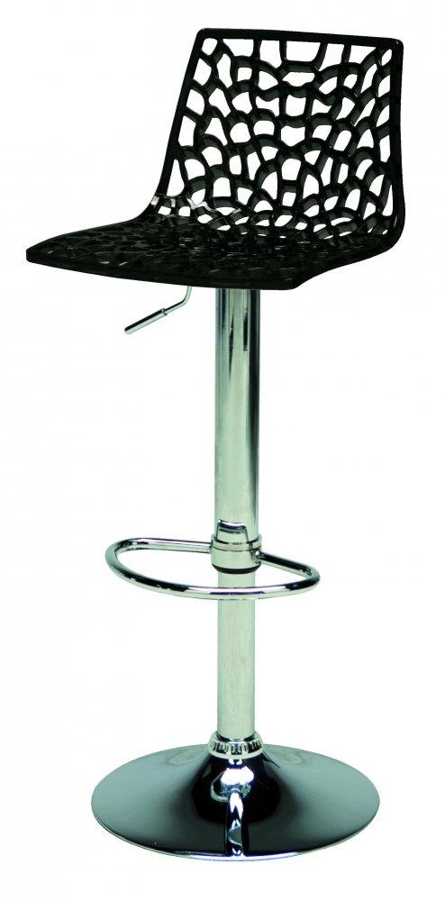 Barová výškově stavitelná židle Stima SPIDER bar – sedák plast, více barev Nero/P