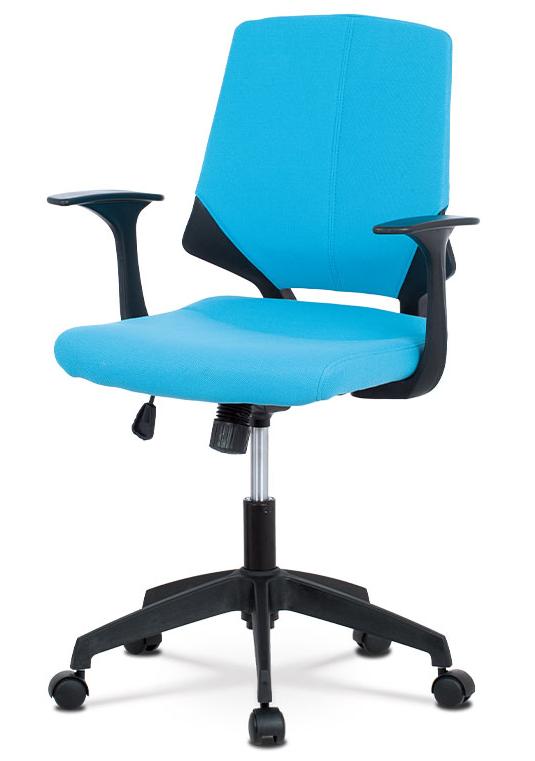 Kancelářská židle na kolečkách BELA — modrá, područky