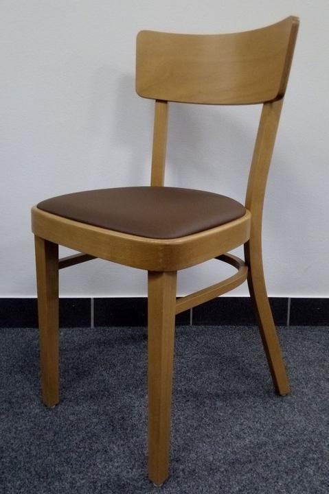 Jídelní dřevěná židle TON IDEAL 313 488 – buk, čalouněný sedák