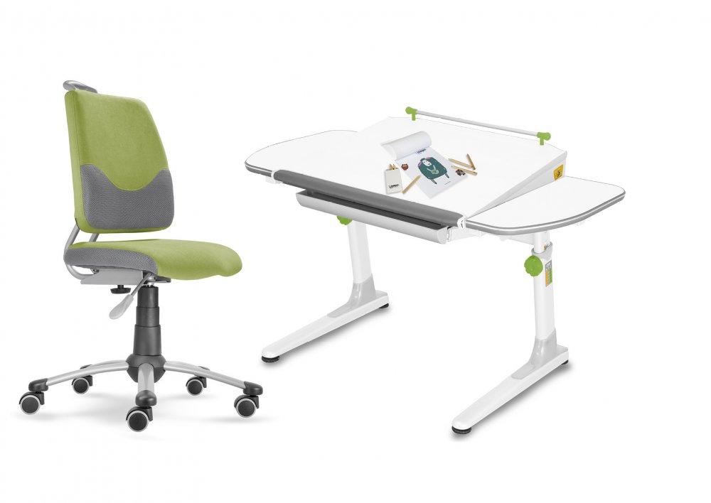 Dětský set Mayer – rostoucí židle ACTIKID A3 SMILE a rostoucí stůl PROFI 3, zelený + dárek