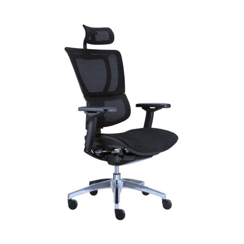 Kancelářská ergonomická židle JOO SÍŤOVANÁ - černá, nosnost 130 kg