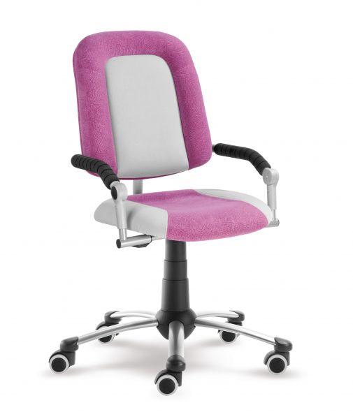 Rostoucí dětská židle na kolečkách Mayer FREAKY SPORT – s područkami Aquaclean růžová/šedá 2430 08 390