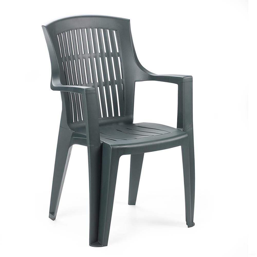 Zahradní židle KARA — plast, více barev Zelená