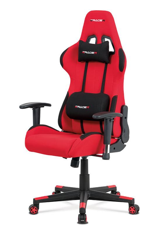 Herní židle ERACER F05 – červená, nosnost 130 kg