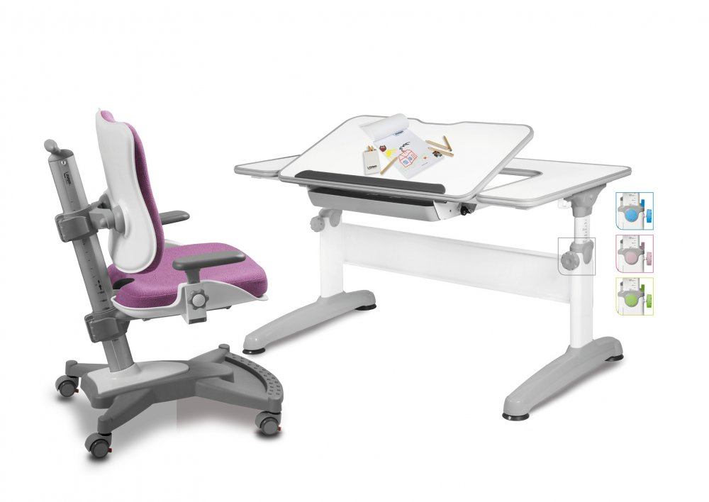 Dětský set Mayer – rostoucí židle MYCHAMP a rostoucí stůl UNIQ, růžový + dárek