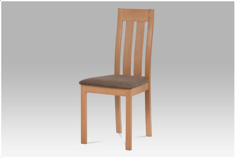 Jídelní dřevěná židle DADO – masiv buk, buk, hnědý potah