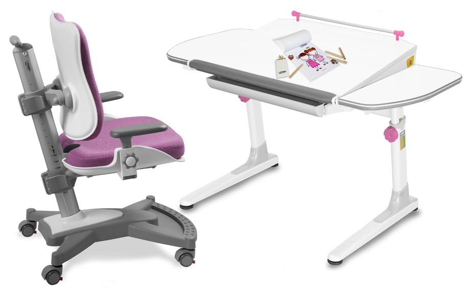 Dětský set Mayer – rostoucí židle MYCHAMP a rostoucí stůl PROFI 3, růžový + dárek