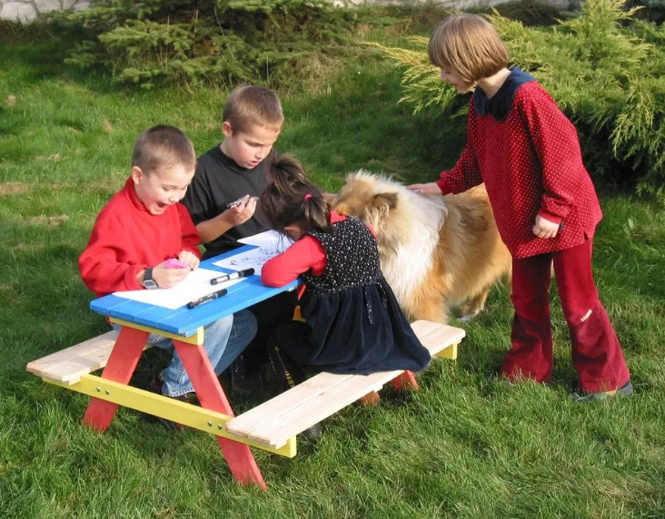 Dětský zahradní set KIDDY — masivní borovice