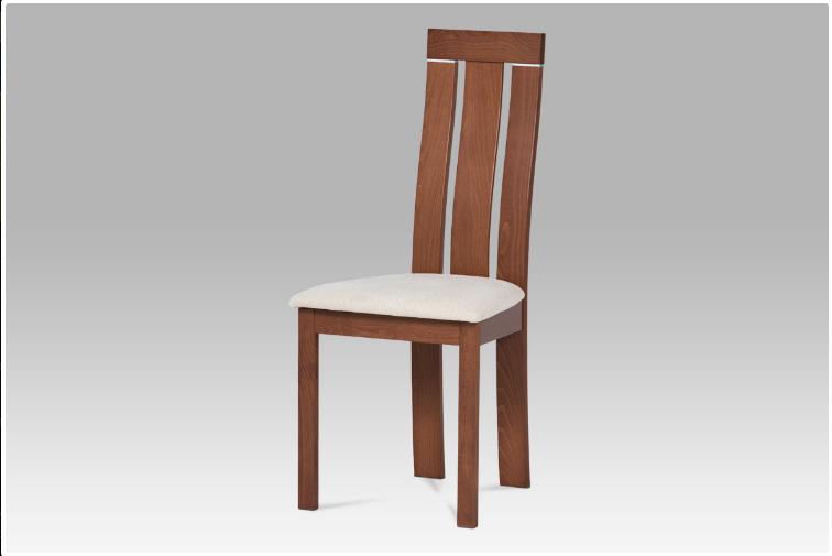 Jídelní dřevěná židle CILIEGIA – masiv buk, třešeň, krémový potah