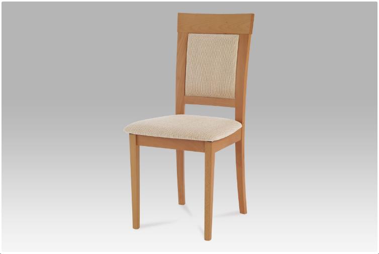 Jídelní dřevěná židle PIAZZA – buk, béžový potah