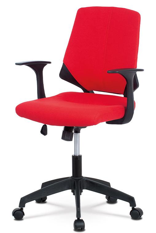 Kancelářská židle na kolečkách BELA — červená, područky