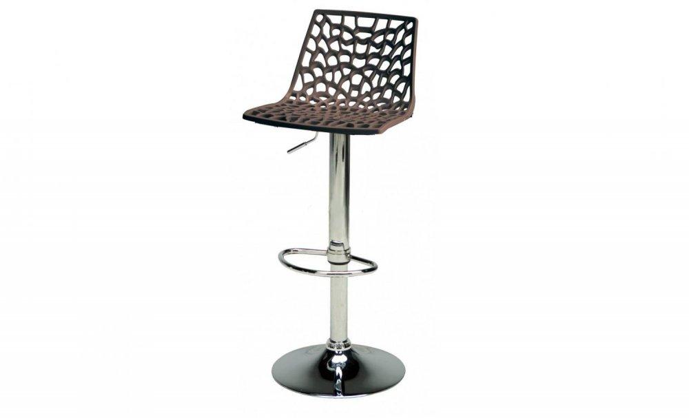 Barová výškově stavitelná židle Stima SPIDER bar – sedák plast, více barev Moka