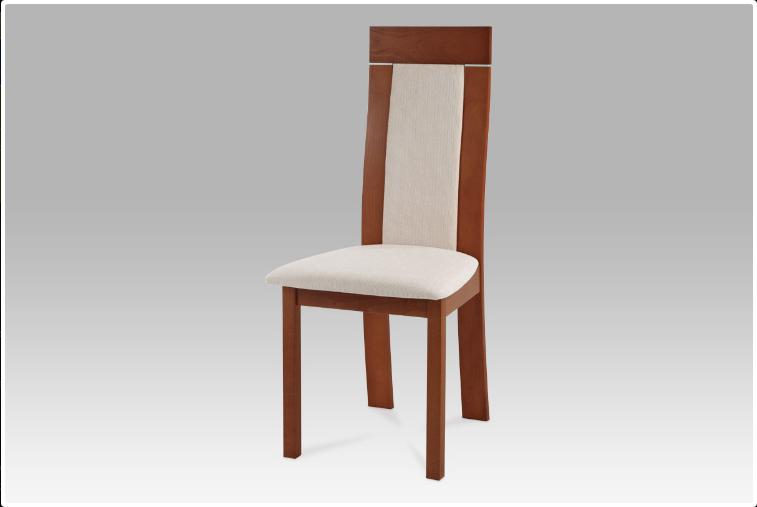 Jídelní dřevěná židle NOCCIOLA – třešeň, krémový potah