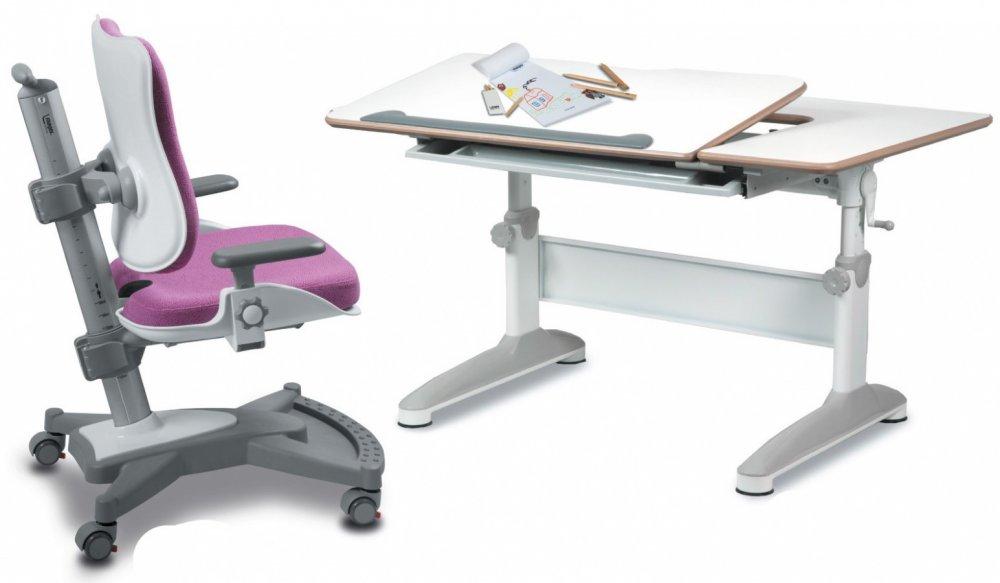 Dětský set Mayer – rostoucí židle MYCHAMP a rostoucí stůl EXPERT, růžový + dárek