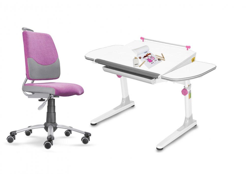 Dětský set Mayer – rostoucí židle ACTIKID A3 SMILE a rostoucí stůl PROFI 3, růžový + dárek
