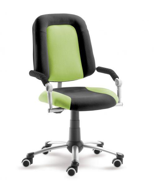 Rostoucí dětská židle na kolečkách Mayer FREAKY SPORT – s područkami Aquaclean zelená/černá 2430 08 396