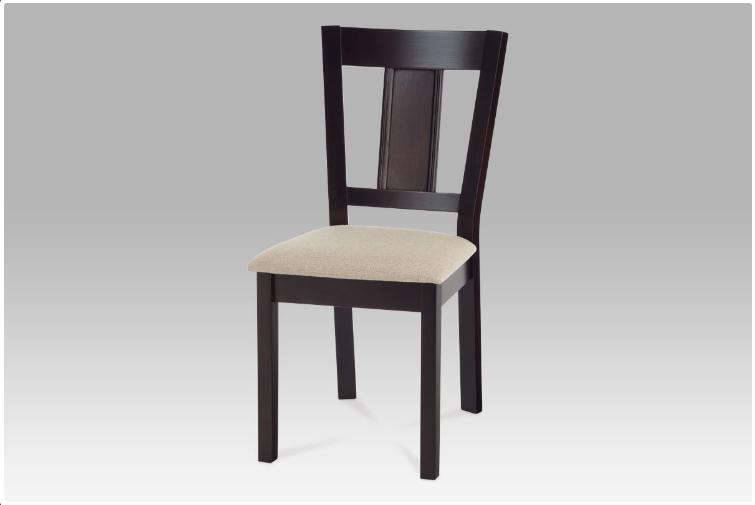 Jídelní dřevěná židle DENTRO – wenge, krémový potah