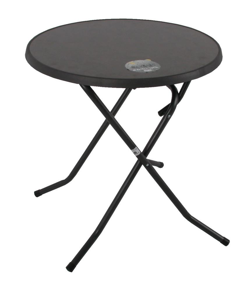 Zahradní kulatý stůl MONTANI — kov, šedá, průměr 70 cm