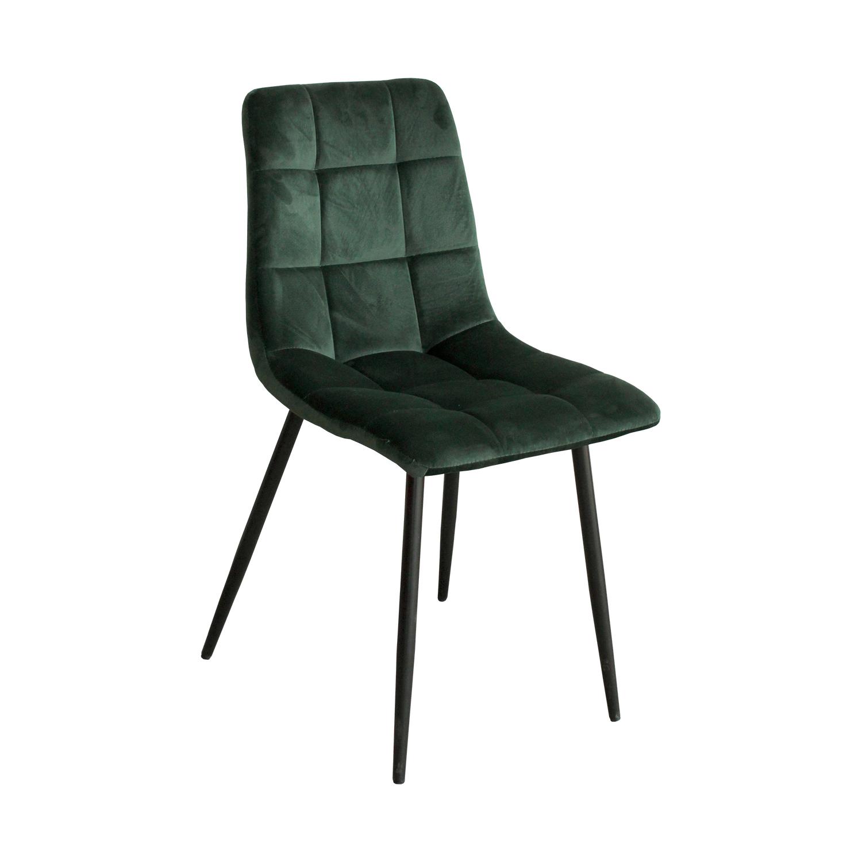 Jídelní židle MACAO – čalouněná, sametový potah, zelená