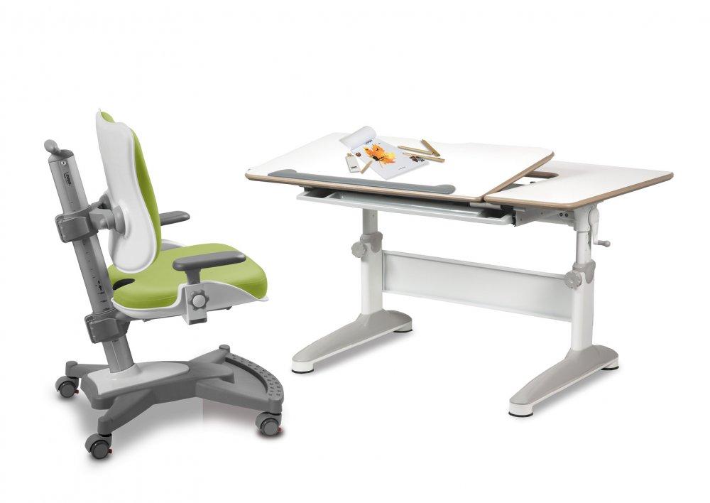 Dětský set Mayer – rostoucí židle MYCHAMP a rostoucí stůl EXPERT, zelený + dárek