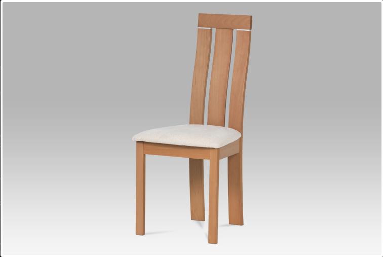 Jídelní dřevěná židle CILIEGIA – masiv buk, buk, krémový potah