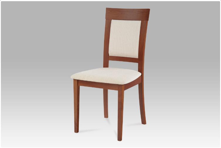 Jídelní dřevěná židle PIAZZA – třešeň, krémový potah