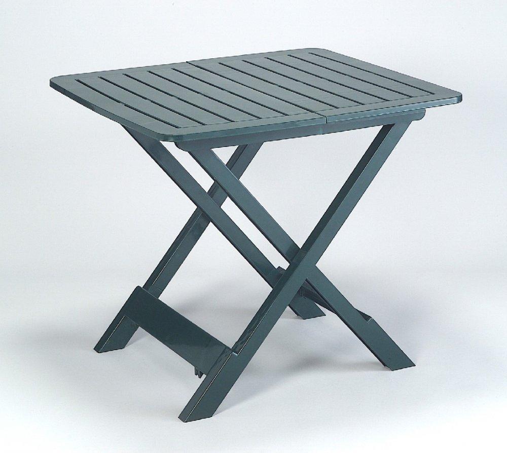 Zahradní rozkládací stolek VETURA — plast, zelená