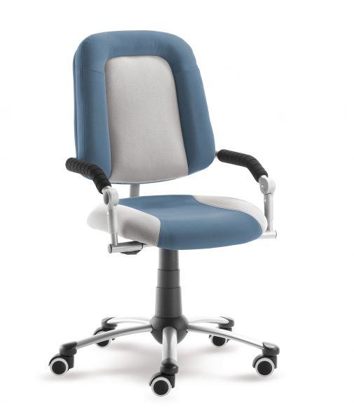 Rostoucí dětská židle na kolečkách Mayer FREAKY SPORT – s područkami Aquaclean modrá/šedá 2430 08 392
