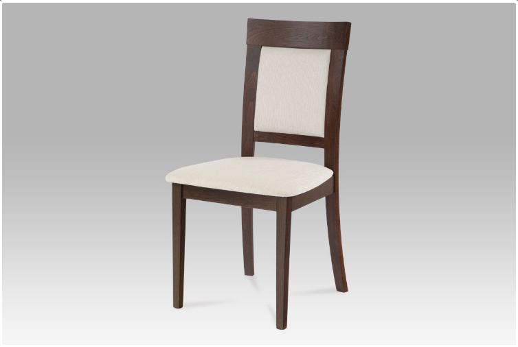 Jídelní dřevěná židle PIAZZA – ořech, krémový potah