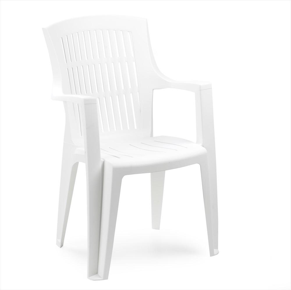 Zahradní židle KARA — plast, více barev Bílá